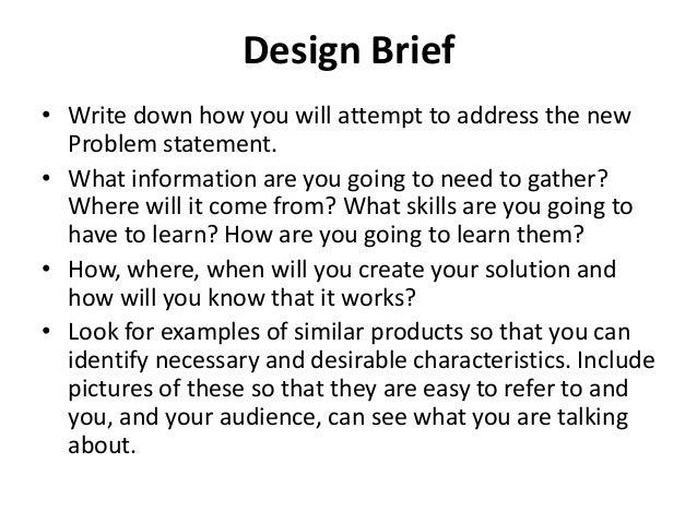 Design brief g11 unit 1