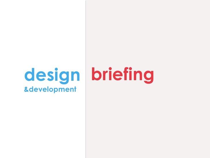 Designbriefing