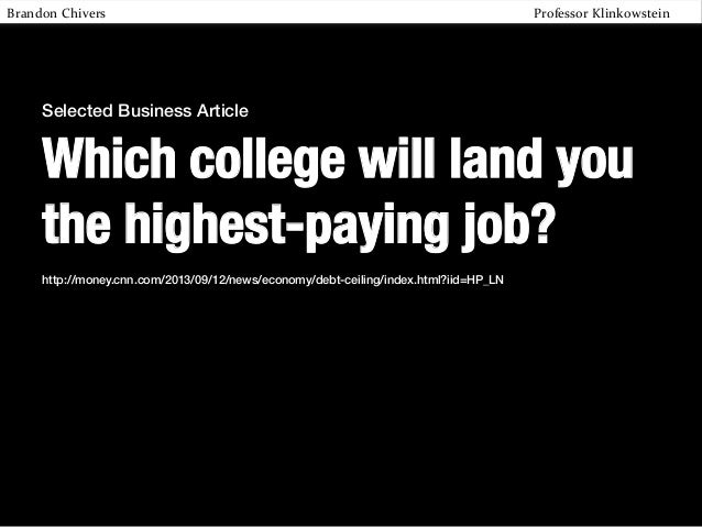 Which college will get you the highest-paying job?