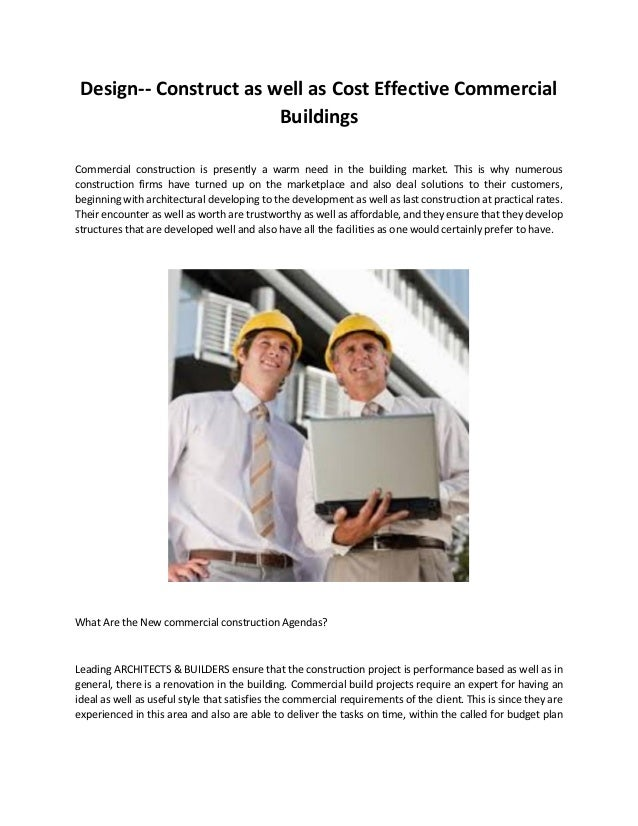 Design construct as well as cost effective commercial for Cost effective building design