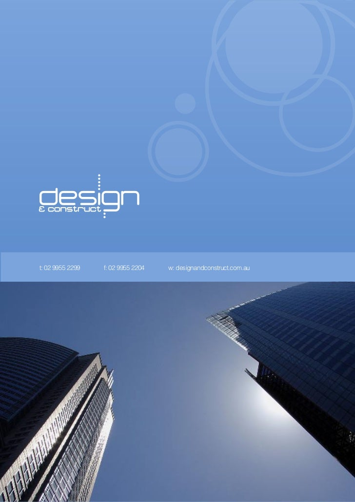 Design construct company profile for Design company