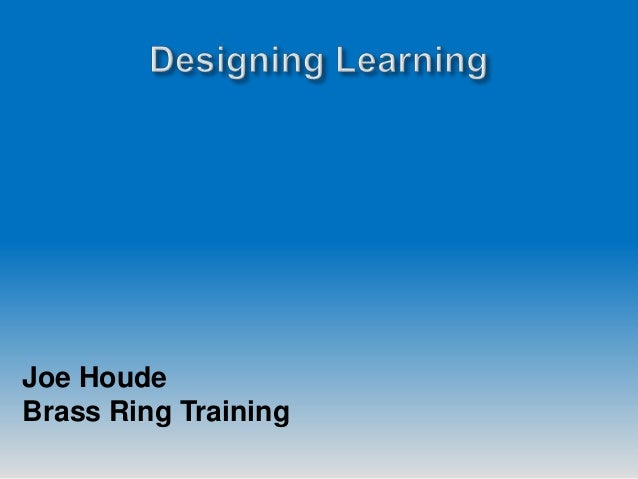 Joe Houde Brass Ring Training
