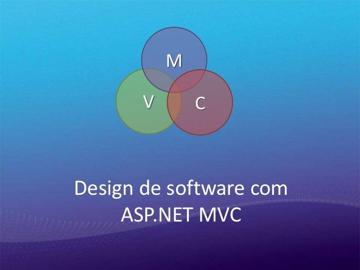 M       V       CDesign de software com     ASP.NET MVC