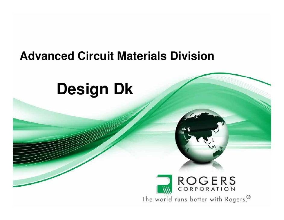 Title pageAdvanced Circuit Materials Division      Design Dk
