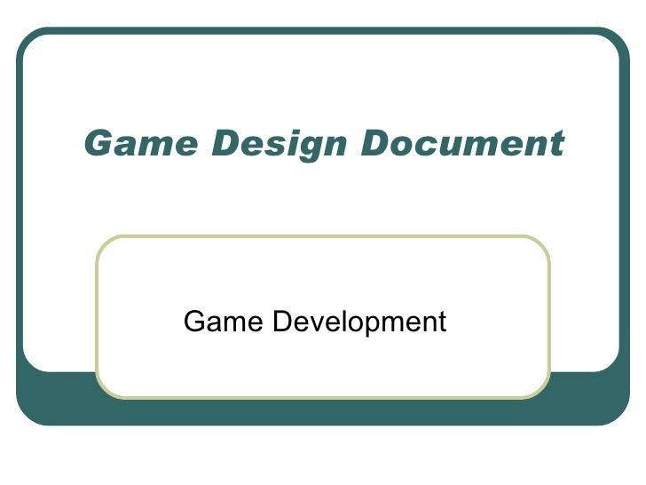 Game Design Document Game Development