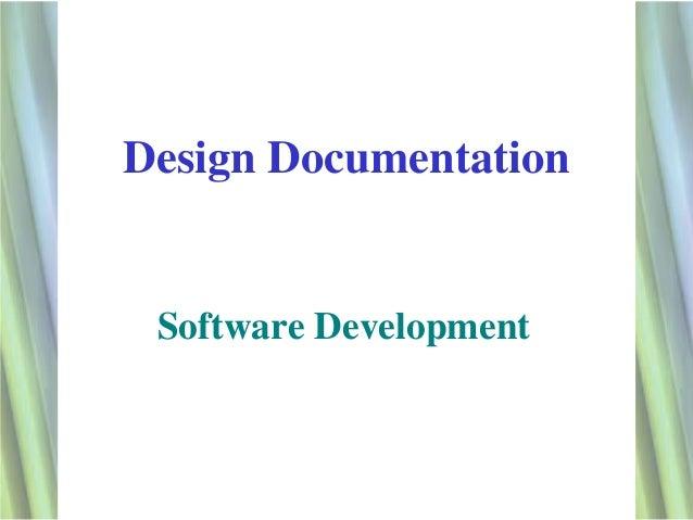 Design Documentation Software Development                        1