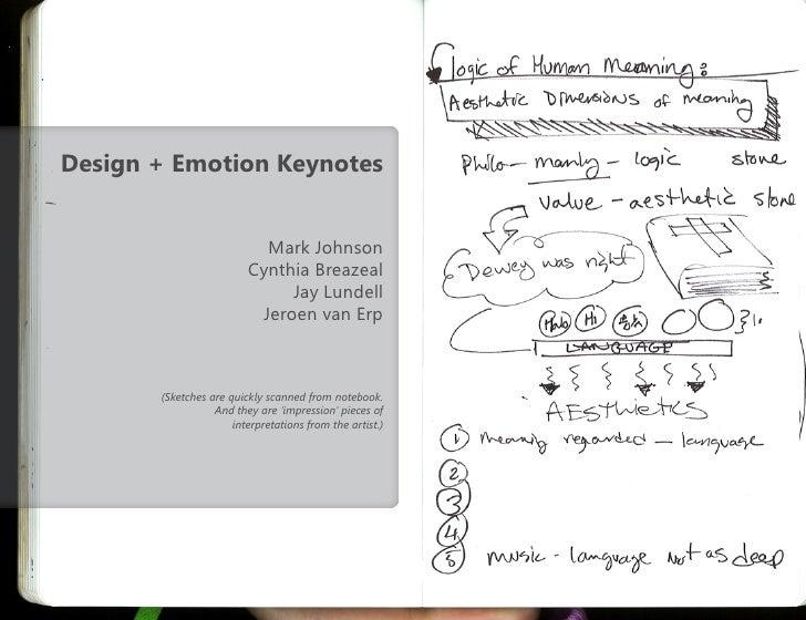 Design+emotion keynotes