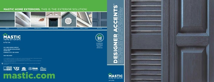 Mastic Designer Accents