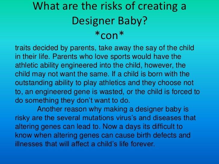 Cons of designer babies essay
