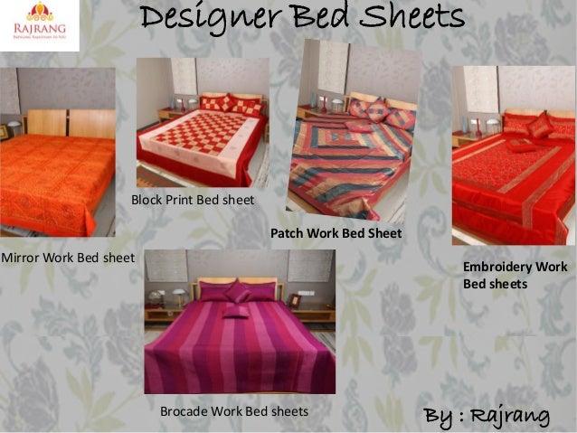 Designer Bed Sheets  Block Print Bed sheet  Patch Work Bed Sheet Mirror Work Bed sheet  Embroidery Work Bed sheets  Brocad...