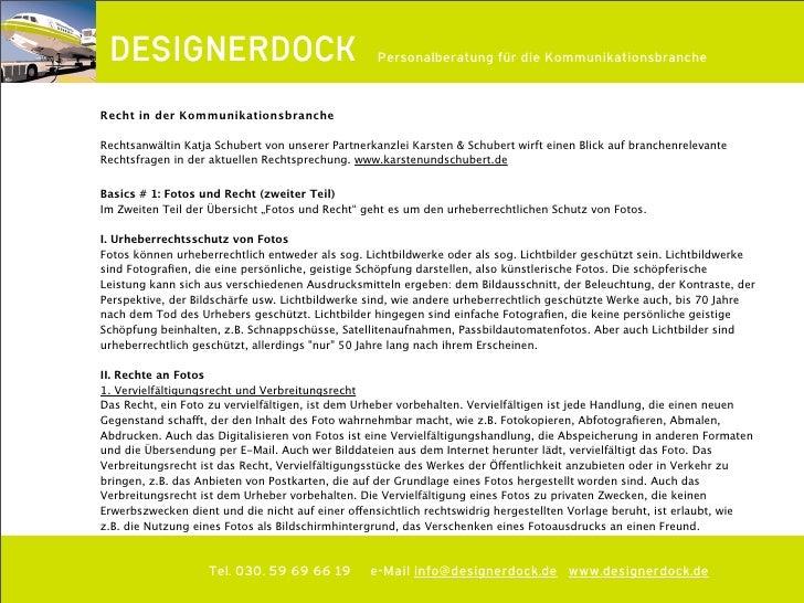 DESIGNERDOCK Rechttipp: Fotos und Recht (2. Teil)