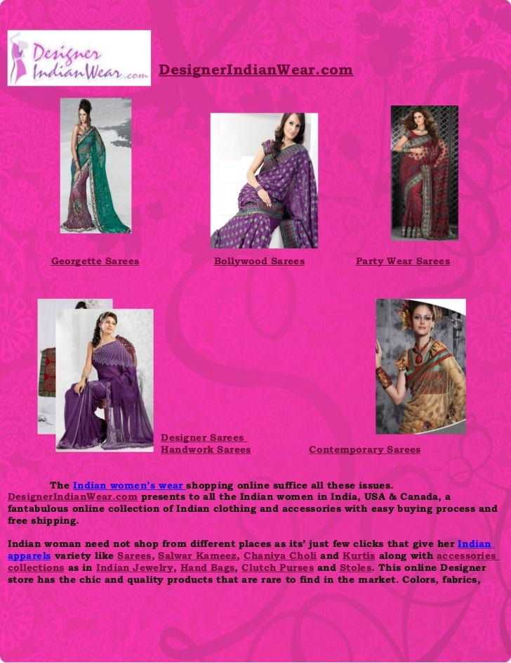 DesignerIndianWear.com        Georgette Sarees               Bollywood Sarees           Party Wear Sarees                 ...