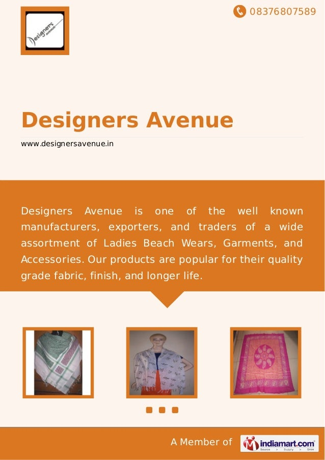 08376807589 A Member of Designers Avenue www.designersavenue.in Designers Avenue is one of the well known manufacturers, e...