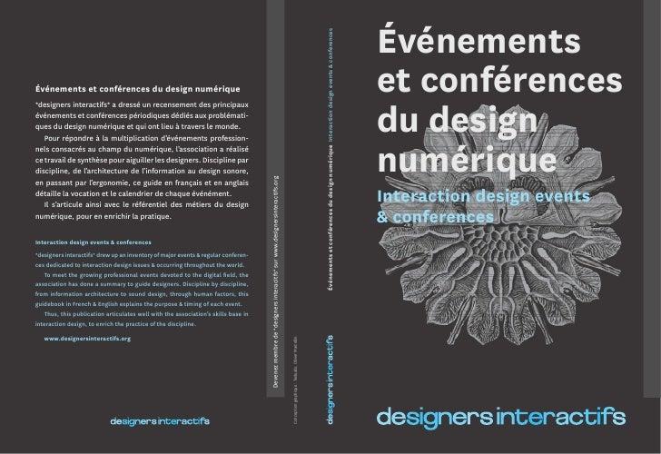Guide des événements et conférences du design numérique