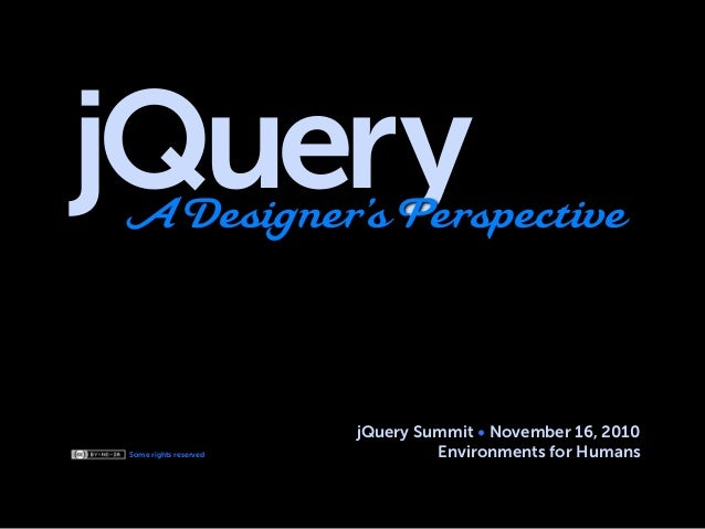 jQuery, A Designer's Perspective