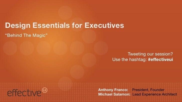 Design essentials For Executives