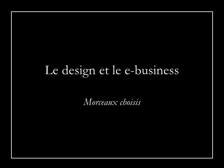design & e-business