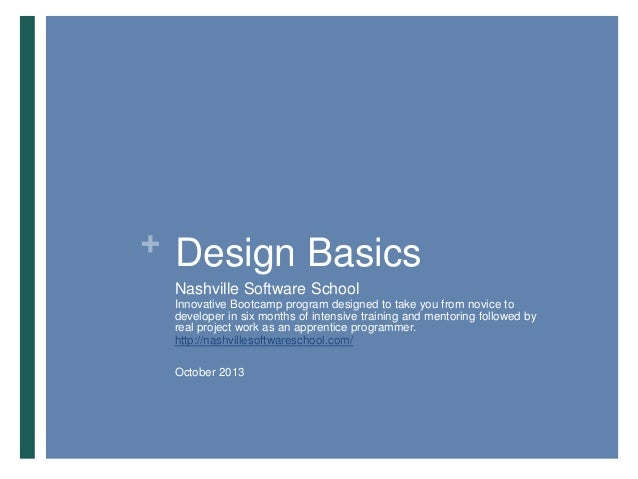 Design Basics for Nashville Software School (full pres)