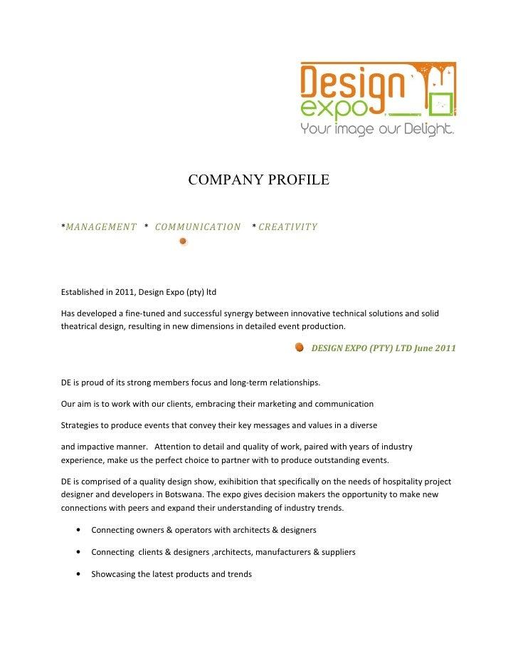 Design expo pty ltd profile