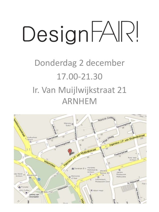 Donderdag 2 december 17.00-21.30 Ir. Van Muijlwijkstraat 21 ARNHEM