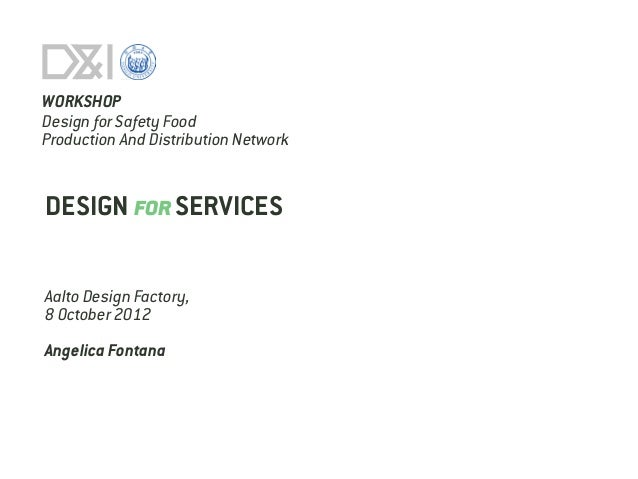 Design for services_lecture