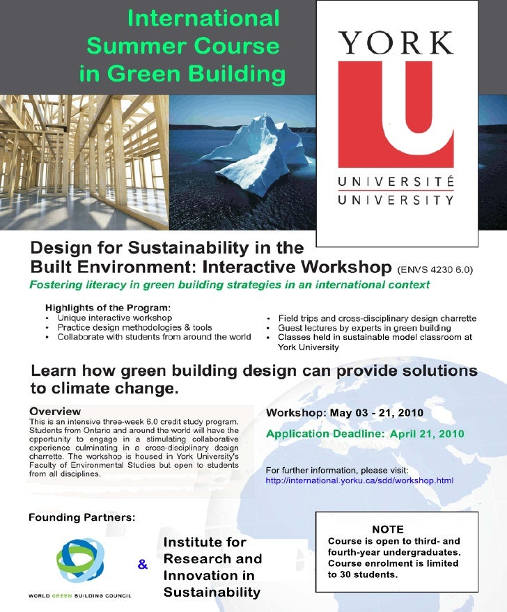 Design for sustainability 2010