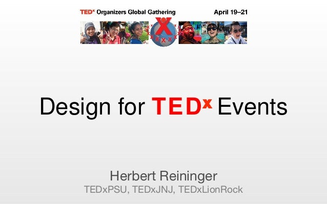 Design for TEDx events
