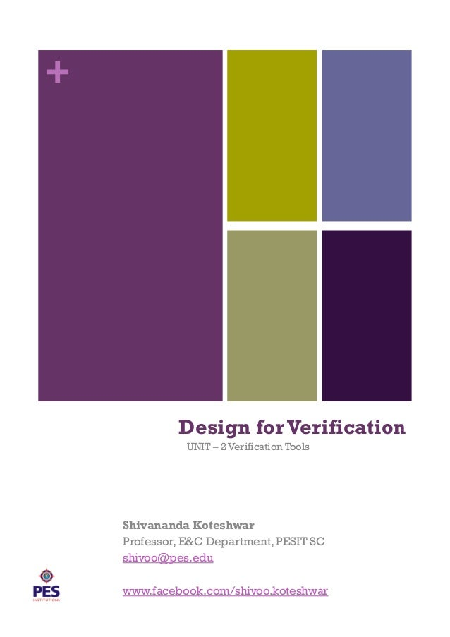 1Sem-MTech-Design For Verification Notes-Unit2-Verification Tools