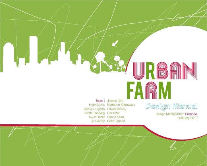 Design Futures Farm Proposal