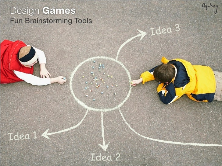 Design Games Fun Brainstorming Tools                                Id ea 3     Idea 1                        Idea 2