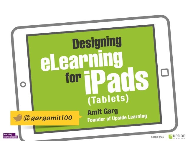 Designing eLearning For iPads