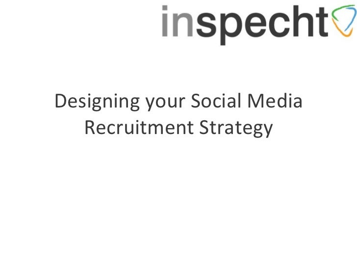 Designing your Social Media Recruitment Strategy