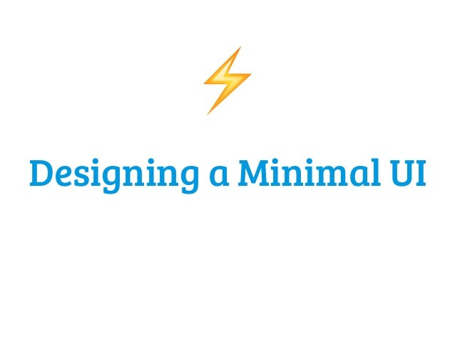 Designing a minimal ui for Minimal art slideshare
