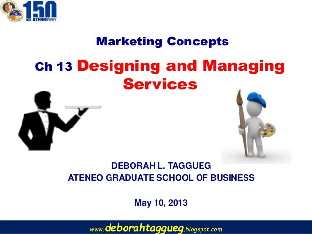 www.deborahtaggueg.blogspot.comDEBORAH L. TAGGUEGATENEO GRADUATE SCHOOL OF BUSINESSMay 10, 2013Ch 13 Designing and Managin...