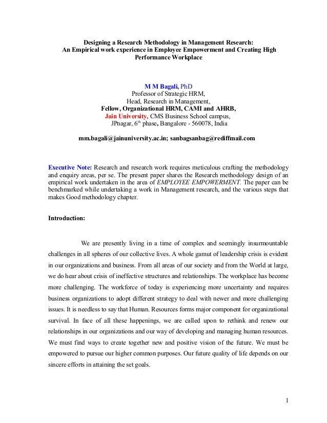 hr research proposal