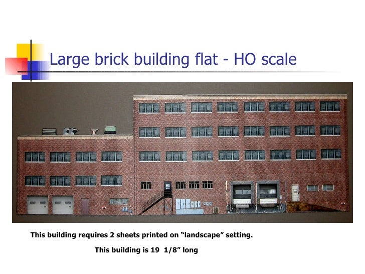 N gage model railroad free ho scale background buildings - Printable ho scale building interiors ...