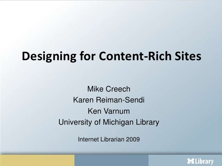 Designing For Content Rich Sites