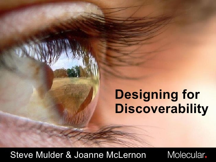 Designing for Discoverability