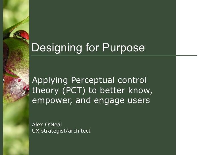 Designing For Purpose