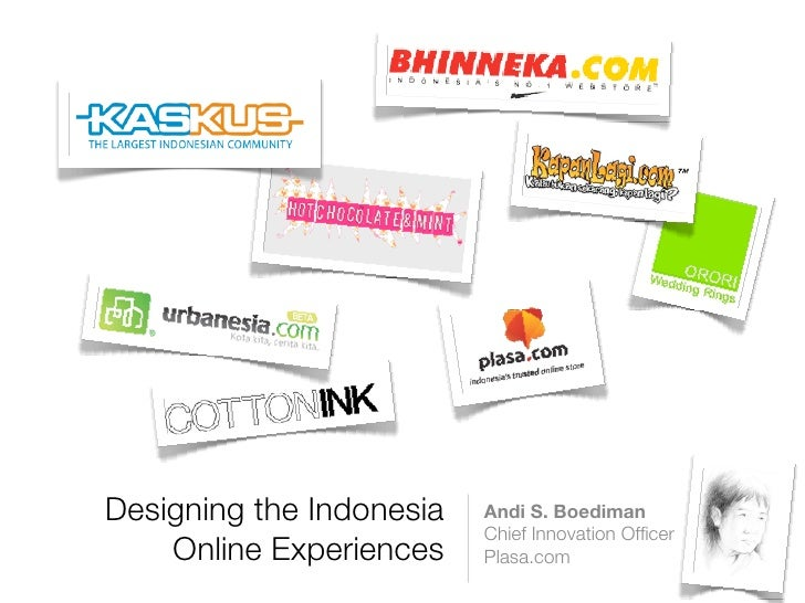 Designing The Indonesia Online Experience