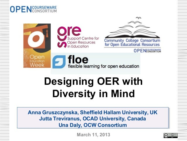 Designing OER with Diversity in Mind