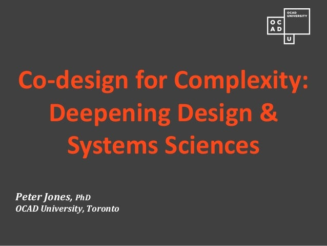 Designing the Systems Sciences - AHO, Oslo, Oct 2012