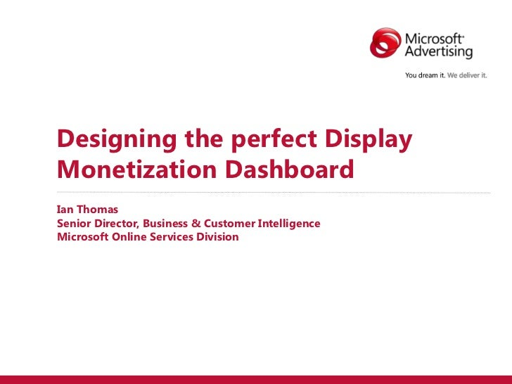 Designing the perfect display monetization dashboard (public)