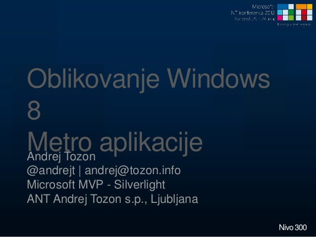Designing windows 8 metro applications