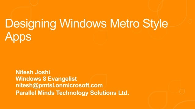 Designing windows metro style apps