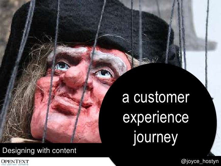 Designing with content: a customer experience journey