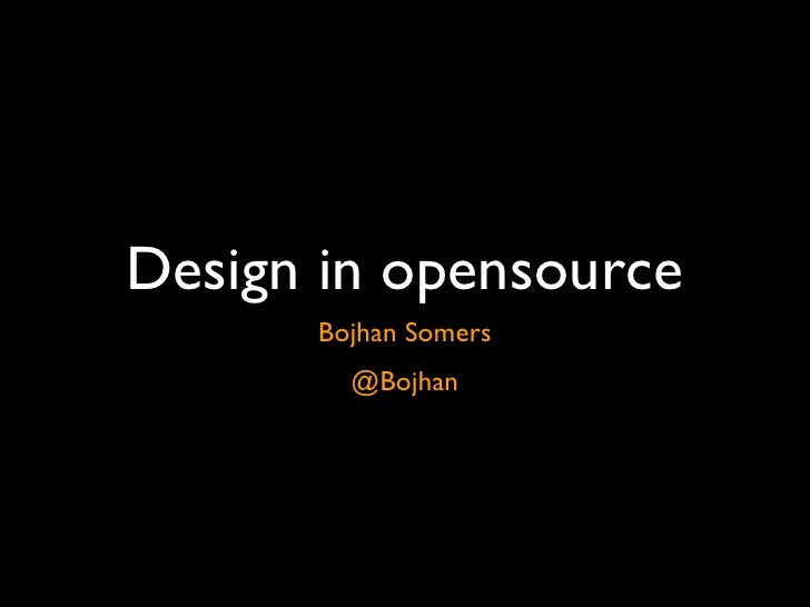 Design in opensource