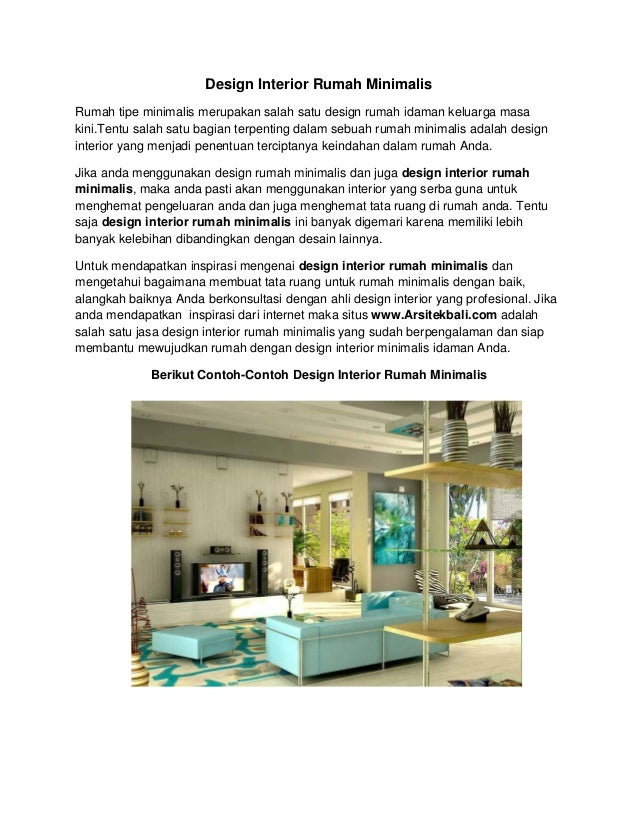 Design interior rumah minimalis for Design interior rumah villa