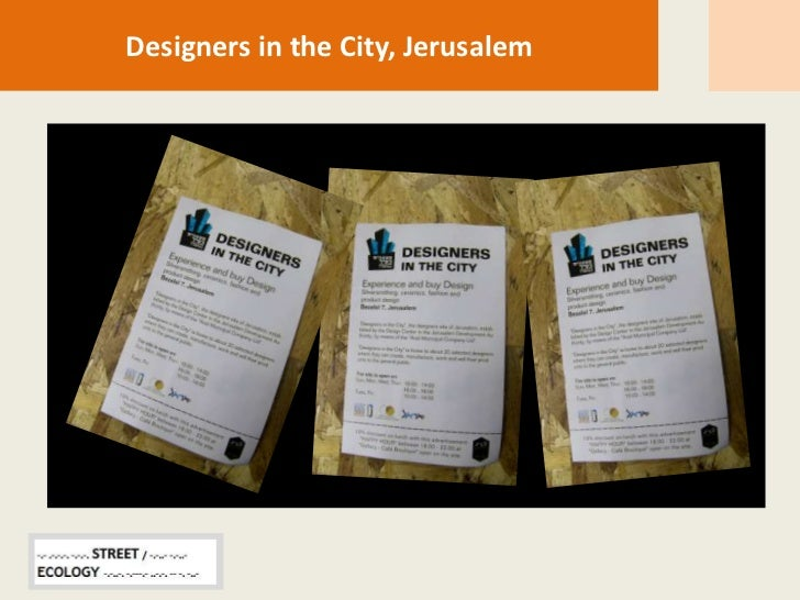 Designinthecity street ecology