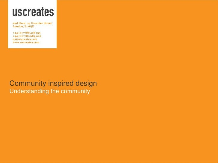 Community Inspired Design by Mary Rose Cook